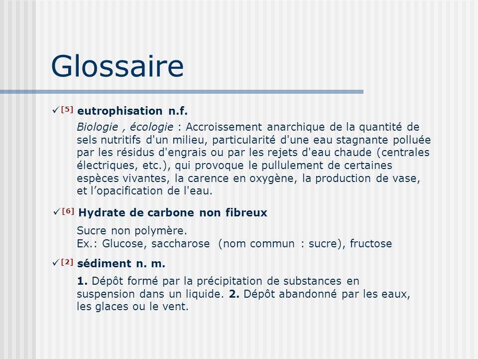 Glossaire [5] eutrophisation n.f.